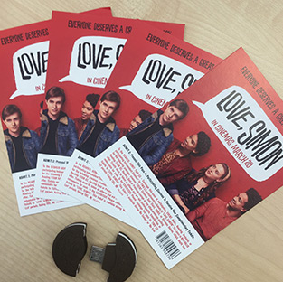 Win 1 of 4 'Love, Simon' double passes + USBs