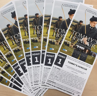 Win 1 of 5 'Tommy's Honour' double passes